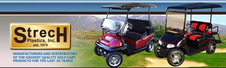 strech plastics wholesal golf cart accessories