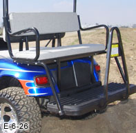 Golf Cart Rear Seat Kits | StrechPlastics.com  Penger Golf Cart E Z Go Freedom on