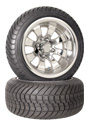 12 inch golf cart polished spider wheel