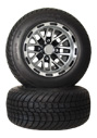 10 inch golf cart black spider wheel