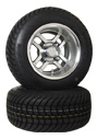10 inch golf cart polsihed turbine wheel