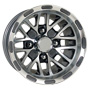 10 inch golf cart gunmetal spider wheel