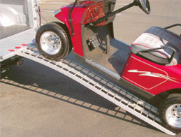 arched aluminum golf cart ramp
